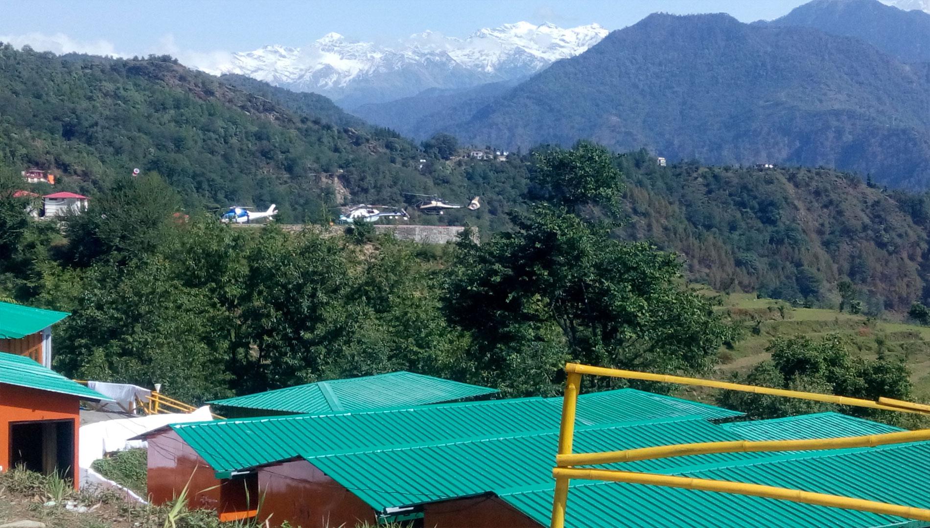 hotel near guptkashi helipad